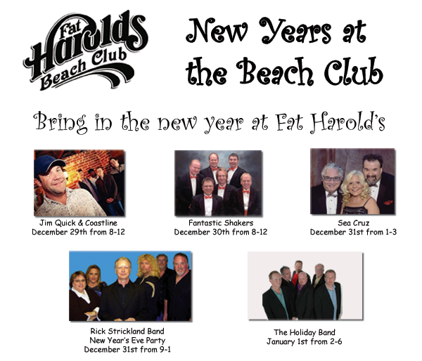 Fat Harold S Beach Club New Years Eve  Events