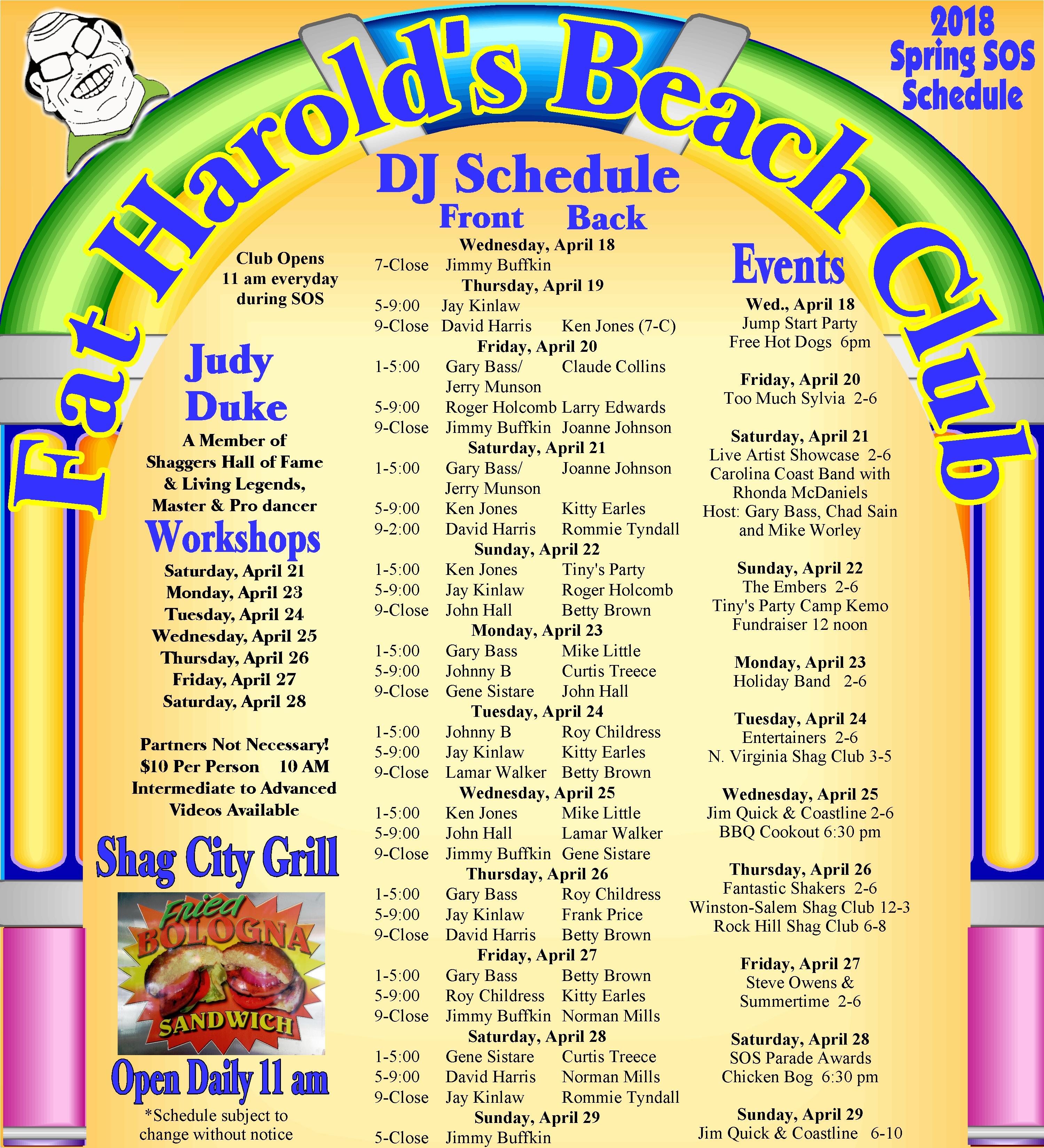 Fat Harold S Address Myrtle Beach