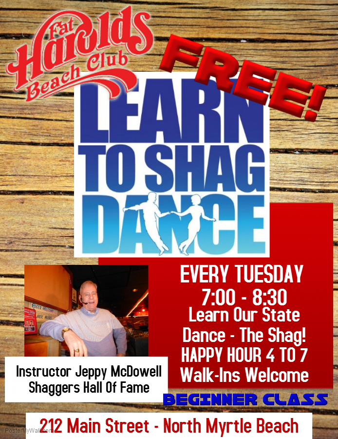FREE BEGINNER SHAG LESSONS ON TUESDAY