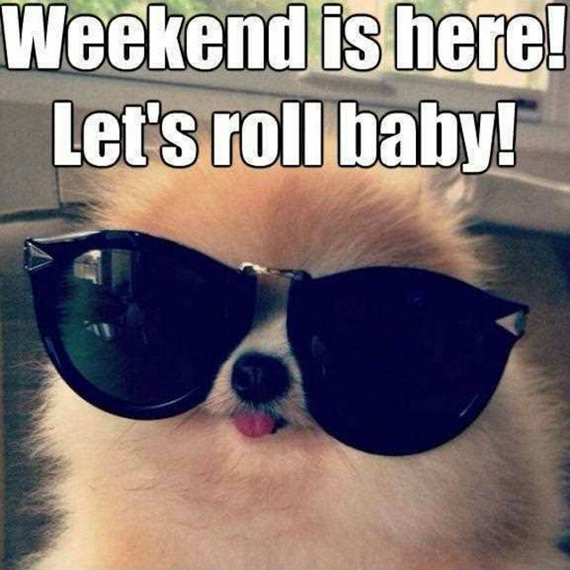 IT'S THE WEEKEND, BABY!