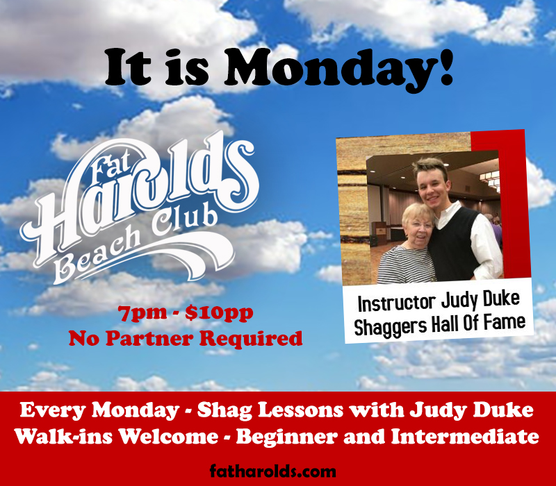 Do you Shag? Lessons tonight at Harold's
