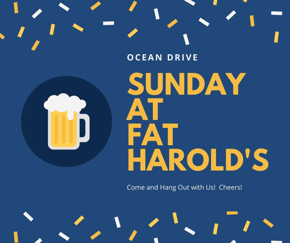 Harold's on Sunday!