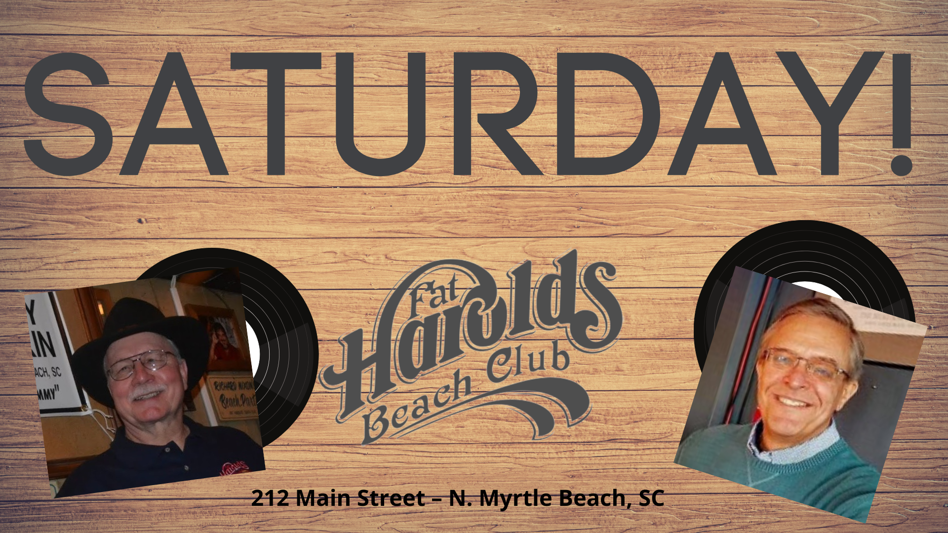 Saturday at Harolds!